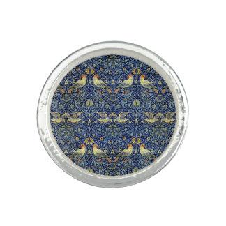 William Morris fågelmönster Ring Med Foto