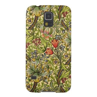 William Morris guld- lilja Galaxy S5 Fodral