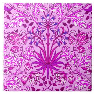 William Morris hyacinttryck, lavendel och Violet Kakelplatta