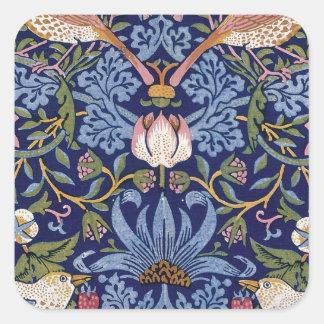 William Morris jordgubbetjuv Fyrkantigt Klistermärke