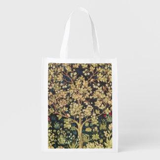 William Morris livets träd Återanvändbara Påsar