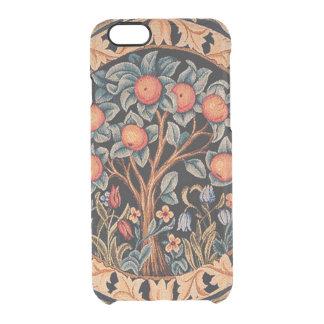 William Morris orange träd Clear iPhone 6/6S Skal