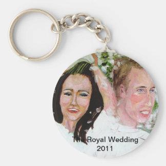 William och Kate souvenir Rund Nyckelring