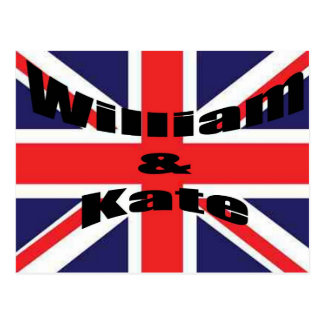 William och Kate Vykort
