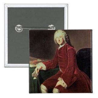 "William Pitt ""fläderen"", mer sistnämnd 1st Earl av Standard Kanpp Fyrkantig 5.1 Cm"