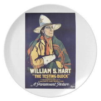 William S. Hart som testar den kvarterfilmen 1920, Tallrik