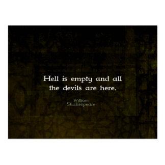William Shakespeare humoristisk kvick Quotation Vykort