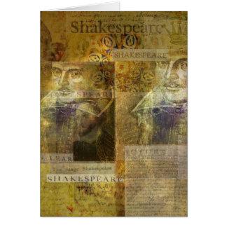 WILLIAM SHAKESPEARE konst Hälsningskort