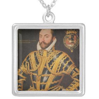 William Somerset 3rd Earl av Worcester Silverpläterat Halsband