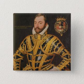 William Somerset 3rd Earl av Worcester Standard Kanpp Fyrkantig 5.1 Cm