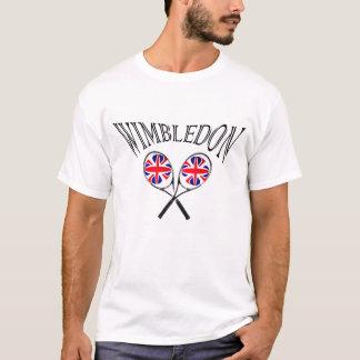 Wimbledon tennisracket och bollar UK sjunker T Shirt