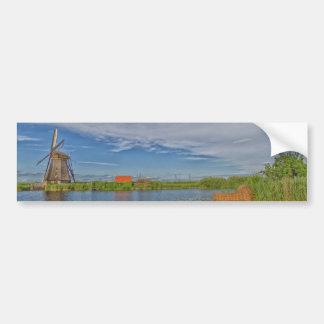 windmills av platsen för Kinderdijk världsarv Bildekal