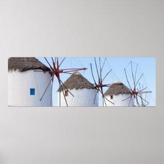Windmills i Mykonos Poster