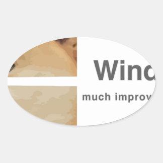 Windoge 8 ovalt klistermärke