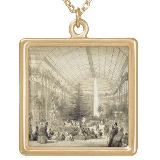 Wintergardenen som publiceras av Auguste Bry (lith Halsband Med Fyrkantigt Hängsmycke