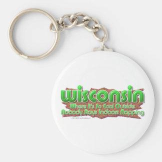 Wisconsin coola rund nyckelring