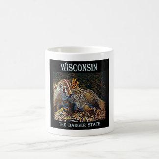 Wisconsin den statliga bäverskinnet kaffemugg