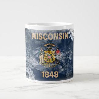 Wisconsin flagga jumbo mugg