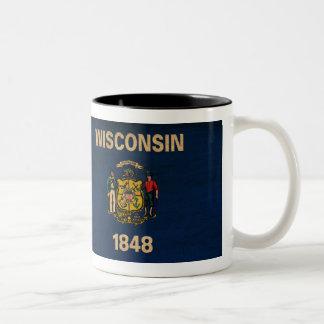 Wisconsin flaggamugg Två-Tonad mugg