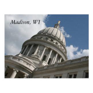 Wisconsin huvudstadvykort vykort