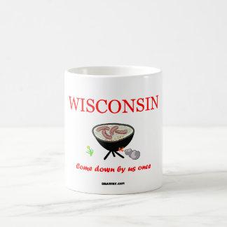 Wisconsin - kom besegra vid oss en gång - kaffemugg