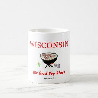 Wisconsin - muggen för kaffe för Bratsmåfisk den Kaffemugg