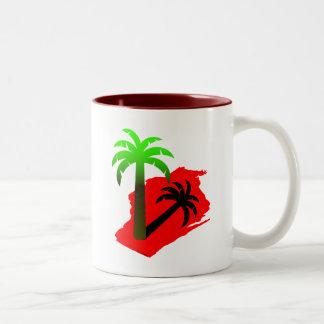 Wisconsin palmträd Två-Tonad mugg