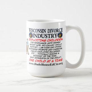 Wisconsin skilsmässaindustri kaffemugg