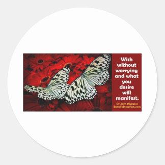 Wish utan bekymmer runt klistermärke