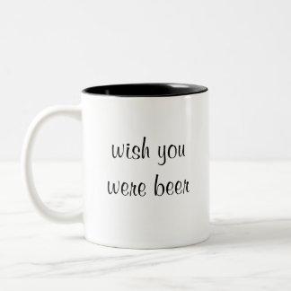 wishen var du öl Två-Tonad mugg