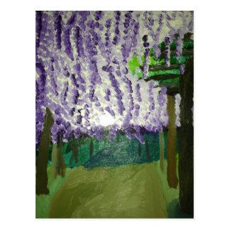 wisteria vykort