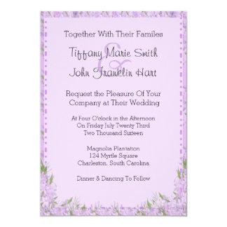 Wisteriaen blommar bröllopinbjudan 12,7 x 17,8 cm inbjudningskort