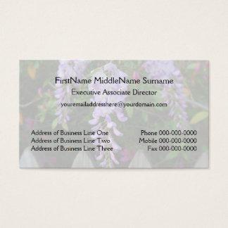 Wisterialila blommor och staket visitkort
