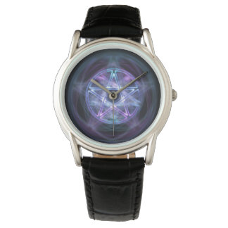 Witchcraftblått avfyrar Pentagram Armbandsur