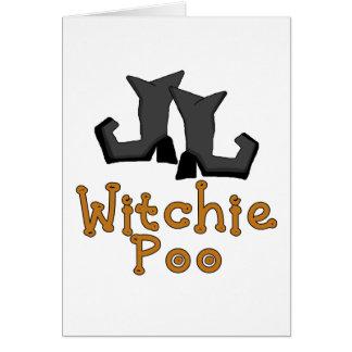 Witchie bajsT-tröja och gåvor Hälsningskort