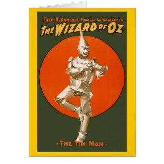 Wizard of Oz Tinman - vintagemusikalteater Hälsningskort