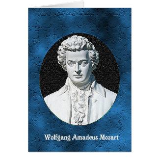 Wolfgang Amadeus Mozart hälsningkort Hälsningskort