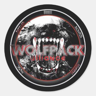 WolfPack klistermärkear Runt Klistermärke