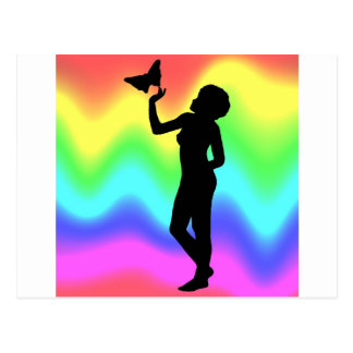 Woman2 RainbowMelt Vykort
