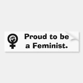 WomanFist som är stolt att vara en Feminist. Bildekal