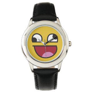 Wonky ögaemoji för gullig lol armbandsur