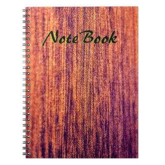 Wood älskare anteckningsbok med spiral