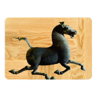 Wood år av hästanpassningsbarinbjudan 12,7 x 17,8 cm inbjudningskort