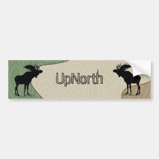 Wood bildekal för Silhouette för kornUpNorth älg