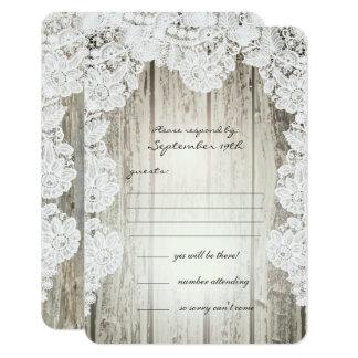 Wood bröllop för lantlig ladugård för 8,9 x 12,7 cm inbjudningskort
