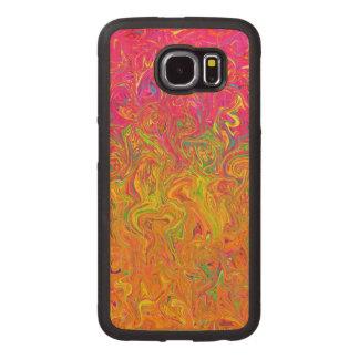 Wood färger för vätska för fodralSamsung galax S6 Telefonskal Trä