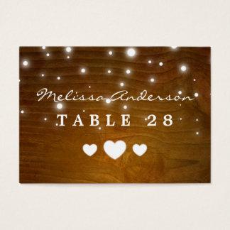 Wood glitterljus för vintage - bröllopeskortkort visitkort