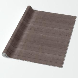 Wood korn för lantlig vintagebrunt som slår in presentpapper