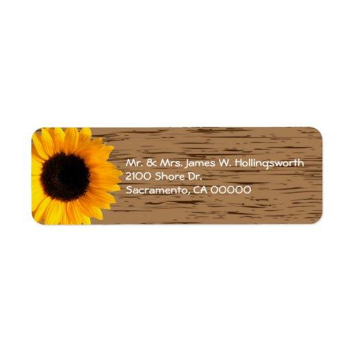 Wood korn- och solrosanpassningsbarreturadress returadress etikett