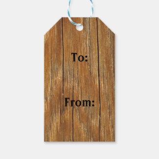 Wood korngåvamärkre presentetikett